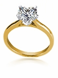 Heart Shaped Cubic Zirconia Cathedral Solitaire Engagement Rings