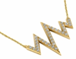 Heartbeat Signal Pave Set Cubic Zirconia Trapeze Necklace