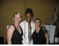 India Arie With Ziamond VIP Staff Members
