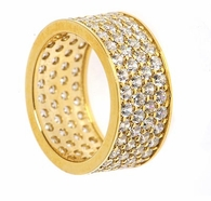 Jennings Round Four Row Pave Set Cubic Zirconia Eternity Band