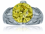 Jubilee 5.5 Carat Round Cubic Zirconia Antique Estate Style Solitaire