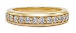 Kirkman Round Shared Prong Cubic Zirconia Anniversary Band