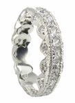 Krystal Channel Set Princess Cut Pave Round Cubic Zirconia Eternity Band