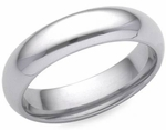 Ladies 5mm Comfort Fit Wedding Band in 14K Gold