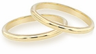 Ladies Comfort Fit Wedding Bands in 14K Gold