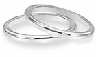 Ladies Comfort Fit Wedding Bands in PLATINUM