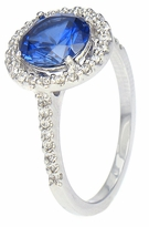 LaRue 1.5 Carat Round Brilliant Cubic Zirconia Pave Set Round Halo Solitaire Engagement Ring