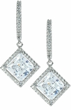 LaRue Halo Micro Pave Cubic Drop Earring Series