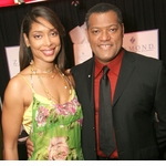 Laurence Fishburne and Gina Torres