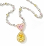Lianna 1 Carat Heart Cubic Zirconia 3 Carat Pear Halo Drop Necklace