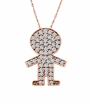 Little Boy Cubic Zirconia Pave Pendant