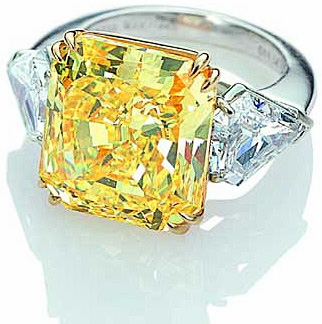 Louvanna Double Prong Set 8.5 Carat Princess Cut Canary Cubic Zirconia Kite Shaped Engagement Ring