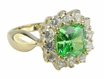 Lucca 1.5 Carat Cushion Cut Cubic Zirconia Halo Cluster Ring