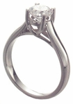 Luccia 1 Carat Round Cubic Zirconia Cathedral Criss Cross Solitaire Engagement Ring