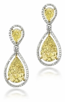 Lunnata 9 Carat Pear Cubic Zirconia Pave Halo Drop Earrings