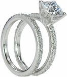 Mantova 2 Carat Round Cubic Zirconia Eternity Bridal Set