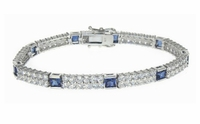 Marbella Alternating Princess Cut and Round Cubic Zirconia Bracelet