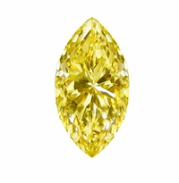 Marquise Canary Yellow Diamond Look Cubic Zirconia Loose Stones