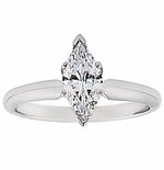 Marquise Cubic Zirconia Classic Solitaire Engagement Rings
