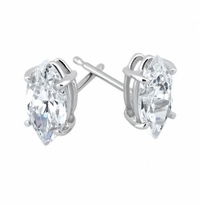 Marquise Cubic Zirconia Stud Earrings