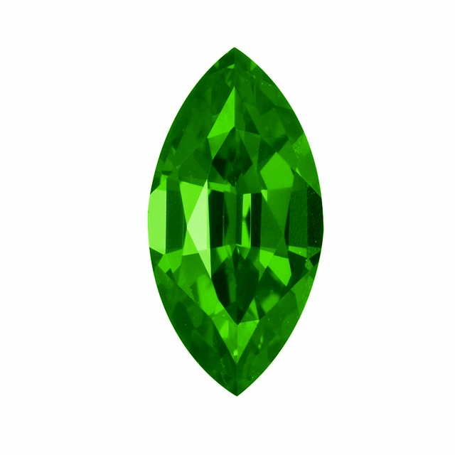 Marquise Green Emerald Lab Created Simulated Man Made Loose