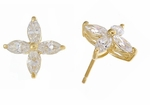 Marquise Star Cubic Zirconia Cluster Stud Earrings