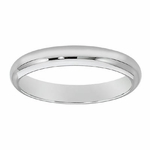 Men's 4mm Comfort Fit Wedding Band available in White or Yellow Gold