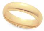 Men's 6mm Comfort Fit Wedding Band available in White or Yellow Gold