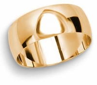 Men's 8mm Comfort Fit Wedding Band available in White or Yellow Gold