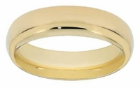 Men's Comfort Fit Wedding Bands in 14K Gold