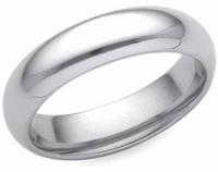 Men's Comfort Fit Wedding Bands in PLATINUM