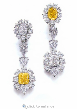 Nadia Oval Cubic Zirconia Cluster Halo Drop Earrings