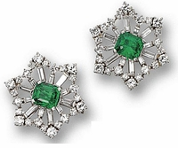 Noella 2.5 Carat Princess Cut Square Cubic Zirconia Baguette Snowflake Style Earrings