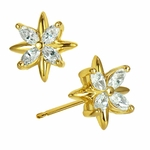 North Star Marquise Cluster Stud Cubic Zirconia Earrings