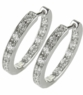 Odellia Cubic Zirconia Inside Out Pave Hoop Earrings