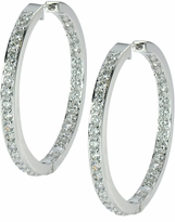 Odellia Large Inside Out Pave Cubic Zirconia Hoop Earrings