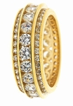 Opus Three Row Channel Set Cubic Zirconia Eternity Ring