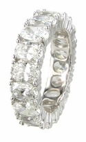Oval .50 Carat Each Prong Set Cubic Zirconia Eternity Band - Medium