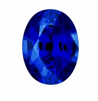 Oval Blue Sapphire Lab Created Synthetic Loose Stones