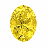 Oval Canary Yellow Diamond Look Cubic Zirconia Loose Stones