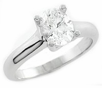Luccia Oval Cubic Zirconia Trellis Setting Solitaire Engagement Rings