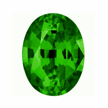 Oval Green Emerald Lab Created Man Made Simulated Loose Stones
