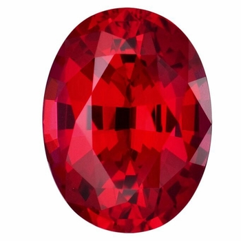 Oval Ruby Lab Created Synthetic Loose Stones