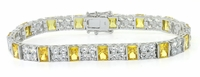 Pandora .75 Carat Each Emerald Cut and Round Cubic Zirconia Bracelet