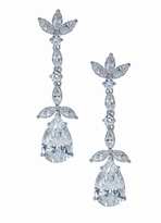Paradis 5 Carat Pear Marquise Round Cubic Zirconia Drop Earrings