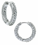 Paris Pave Cubic Zirconia Hoop Earrings