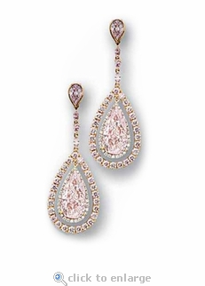 Passion 4 Carat Pear Cubic Zirconia Pave Halo Drop Earrings