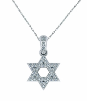 Pave Star of David Cubic Zirconia Pendant