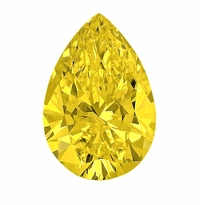 Pear Canary Yellow Diamond Look Cubic Zirconia Loose Stones