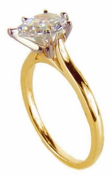 Pear Cubic Zirconia Cathedral Solitaire Engagement Rings